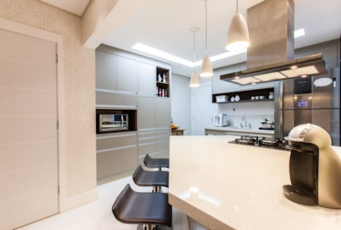 02_Projeto de Interiores: Cozinhas modernas por Paula Carvalho Arquitetura