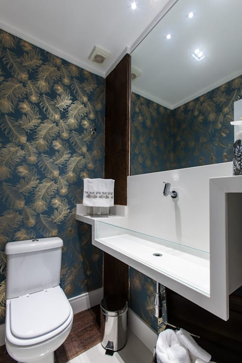 Baños de estilo moderno por Paula Carvalho Arquitetura