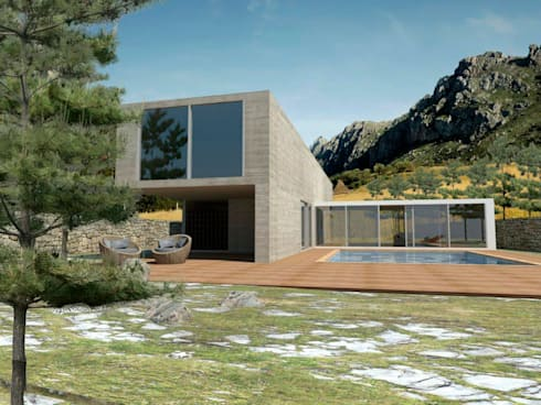 Proyectos y Espacios: Casas de estilo moderno por Grupo Pi Victtus