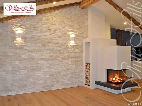 steinwand im wohnzimmer von white hills stones gmbh homify. Black Bedroom Furniture Sets. Home Design Ideas