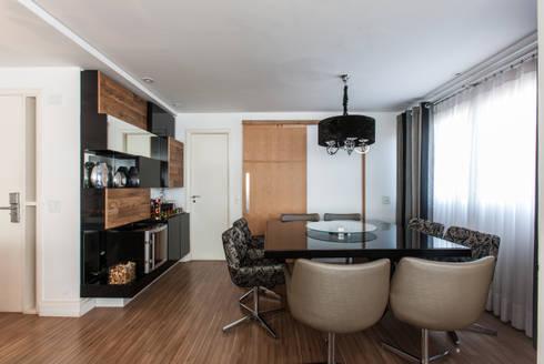 04_Projeto de Interiores: Salas de jantar modernas por Paula Carvalho Arquitetura
