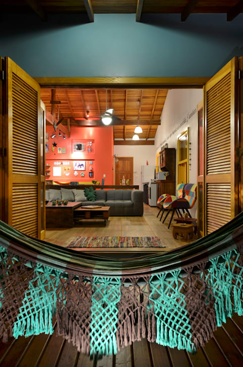 Terrazas de estilo  por Arquitetando ideias