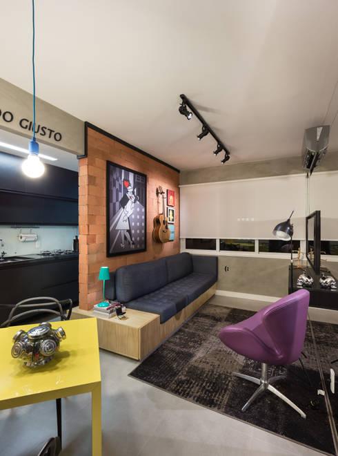 GC HOUSE: Salas de estar modernas por Arquitetando ideias