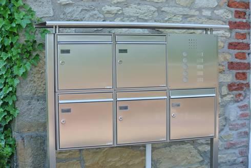 freistehende briefkastenanlagen by briefkasten manufaktur lippe gmbh homify. Black Bedroom Furniture Sets. Home Design Ideas