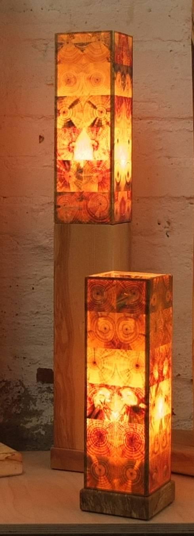 stehlampen aus durchscheinendem hirnholz von holz leuchtet homify. Black Bedroom Furniture Sets. Home Design Ideas