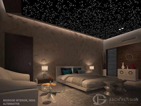 Bedroom Interior Alternative One: eclectic Bedroom by 3DArchPreVision