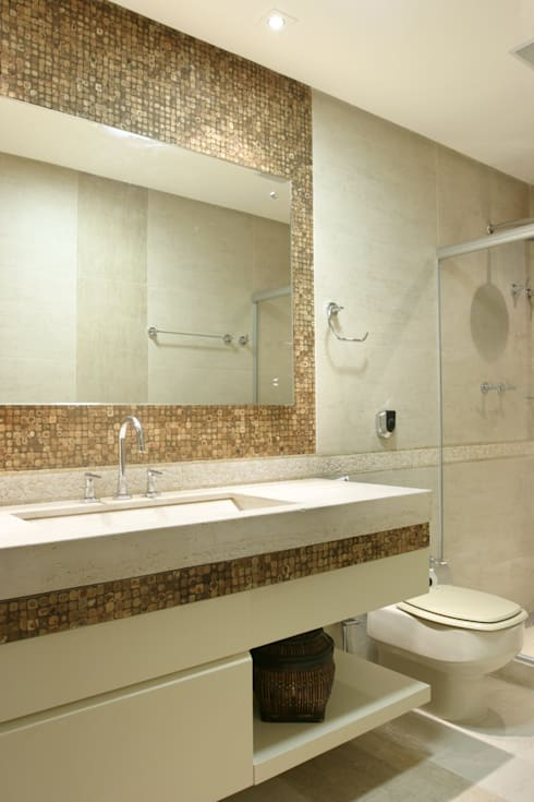 modern Bathroom by Escritório Ana Meirelles