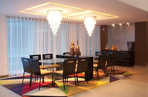 casa de Aldeia PE: Salas de jantar modernas por Deise leal interiores