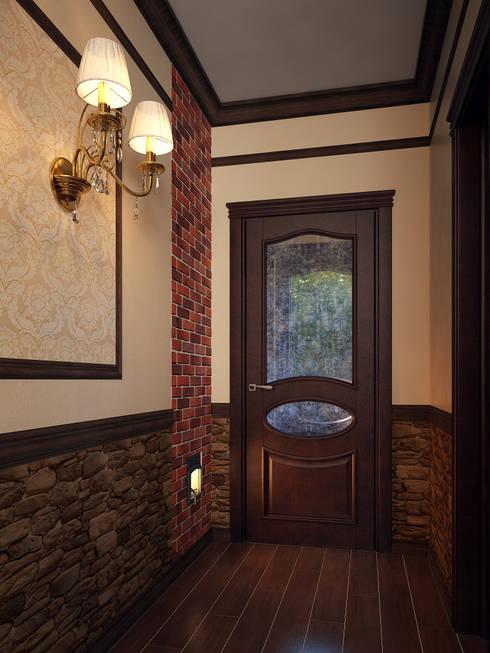 Couloir et hall d'entrée de style  par Alyona Musina