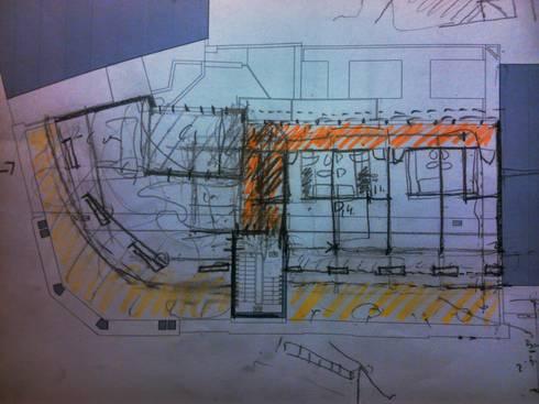 Planta de trabalho:   por Borges de Macedo, Arquitectura.