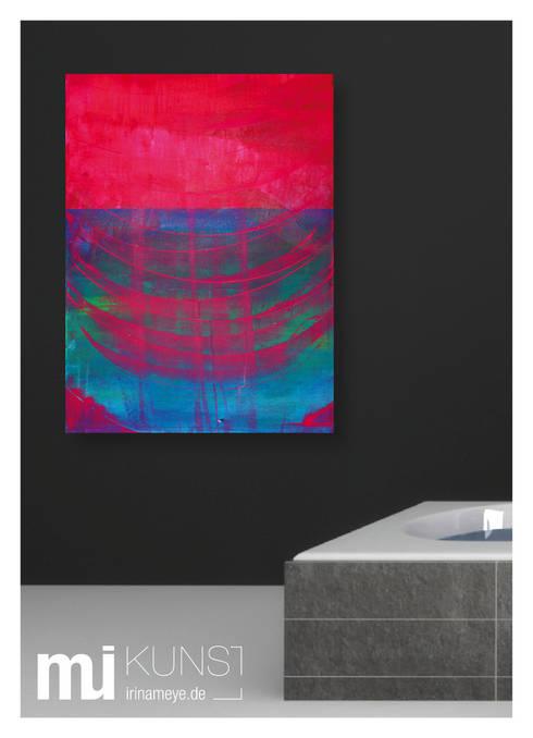 ORIGINAL Abstrakte Kunst / moderne Malerei auf Leinwand ...