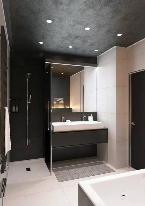 minimalistische Badezimmer von QUADRUM STUDIO
