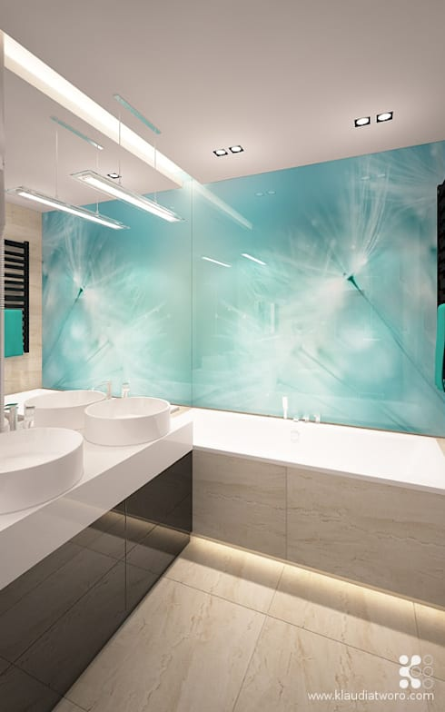 Klaudia Tworo Projektowanie Wnętrz Sp. z o.o.의  욕실