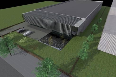 Unidade Industrial: Casas modernas por FP Arquitetos