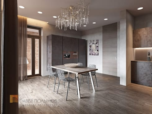Интерьер квартиры в стиле минимализм, 165 кв.м.: Кухни в . Автор - Студия Павла Полынова