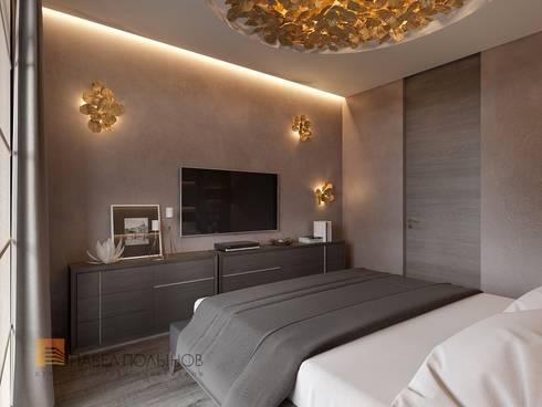 Интерьер квартиры в стиле минимализм, 165 кв.м.: Спальни в . Автор – Студия Павла Полынова