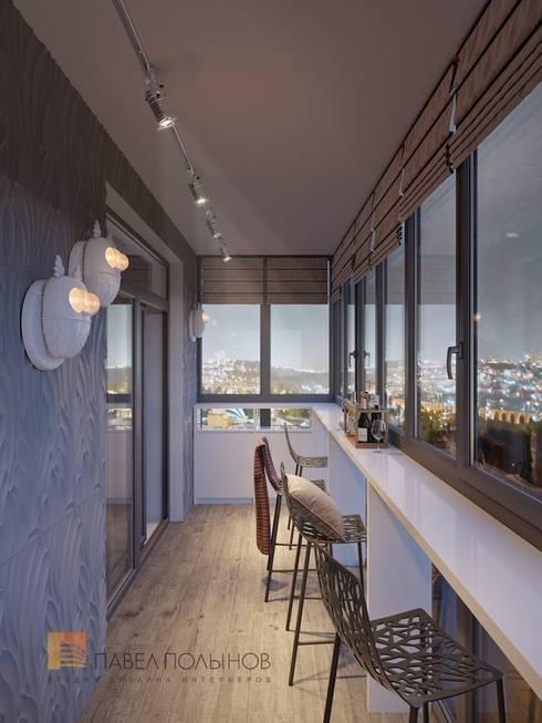 Интерьер квартиры в стиле минимализм, 165 кв.м.: Tерраса в . Автор – Студия Павла Полынова
