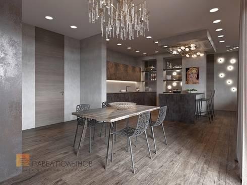 Интерьер квартиры в стиле минимализм, 165 кв.м.: Кухни в . Автор – Студия Павла Полынова