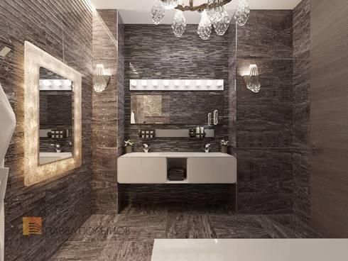 Интерьер квартиры в стиле минимализм, 165 кв.м.: Ванные комнаты в . Автор - Студия Павла Полынова