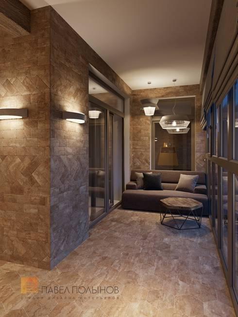 Интерьер квартиры в стиле минимализм, 165 кв.м.: Балконы, веранды и террасы в . Автор - Студия Павла Полынова