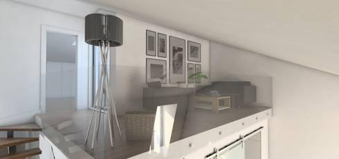 Remodelação Calçada do Combro: Salas de estar modernas por Arqui3 Arquitectos Associados