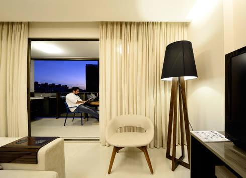 AP WG: Salas de estar modernas por BORA Arquitetos Associados