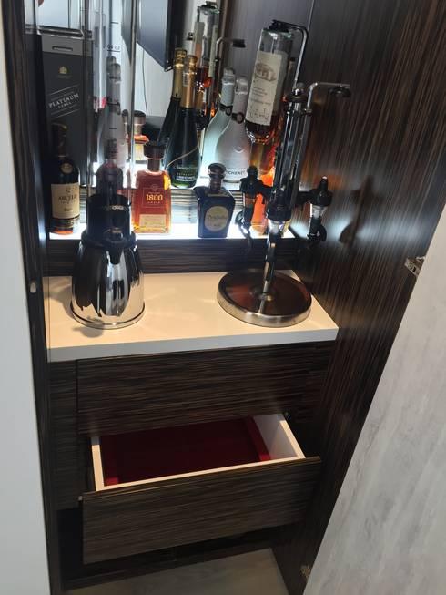 Bar: Pasillos y vestíbulos de estilo  por TRESD ARQUITECTURA Y CONSTRUCCIÓN DE ESPACIOS