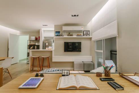 P. HOUSE: Salas multimídia modernas por STUDIO LN