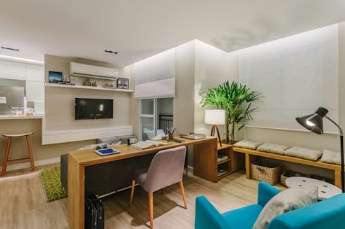 P. HOUSE: Salas de estar modernas por STUDIO LN