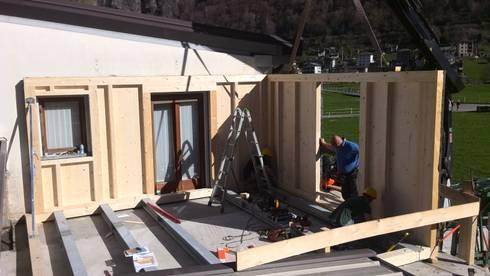 Ampliamento abitazione in legno di dm haus srl homify for Case in stile capannone