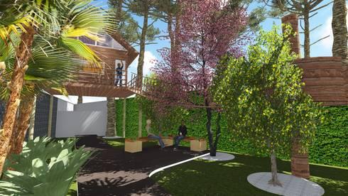 Casa na árvore: Jardins modernos por Studio²