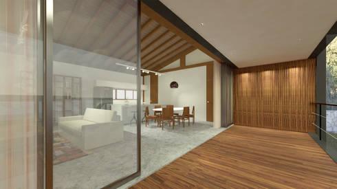 Casa ZED: Terraços  por BORA Arquitetos Associados
