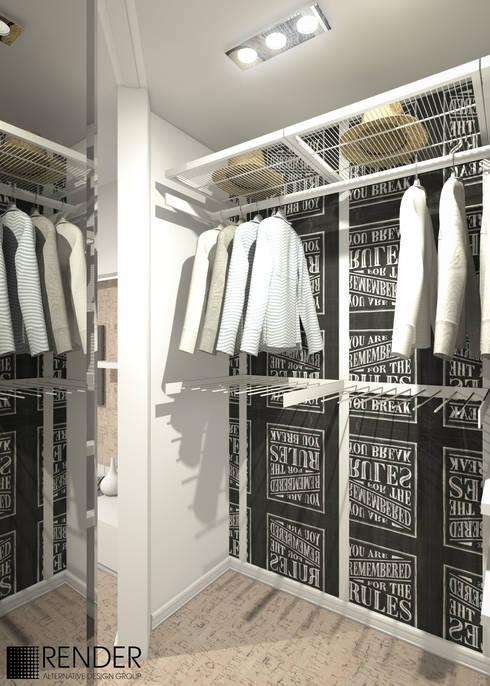 Vestidores y placares de estilo minimalista por RENDER