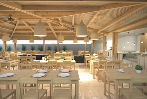 Restaurante: Cozinhas modernas por archi3d