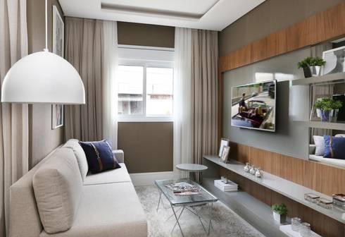 TUCURIVI | DECORADOS: Salas de estar modernas por SESSO & DALANEZI