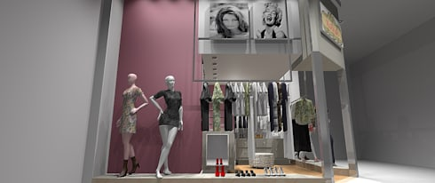 Projeto: Lojas e imóveis comerciais  por ROSANA MEIRELLES - Arquitetura e Decoração