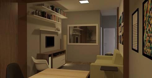 Sala CW: Salas de estar modernas por wsenterarquitetura