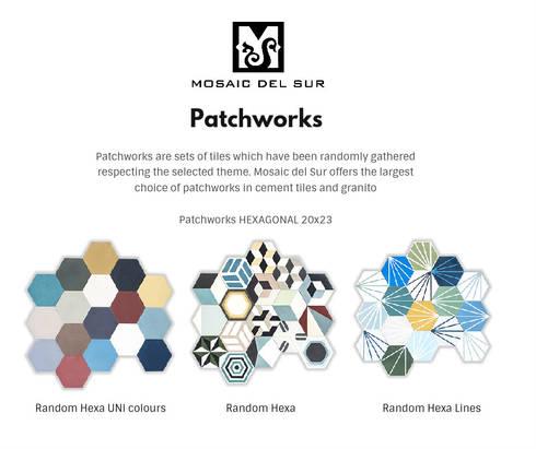 patchwork cementtegels granito tegels van mosaic del sur door mosaic del sur belgi. Black Bedroom Furniture Sets. Home Design Ideas