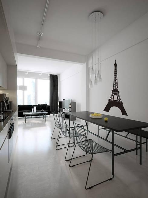 Decoración de Paredes: Paredes y pisos de estilo moderno por Kunst Interior