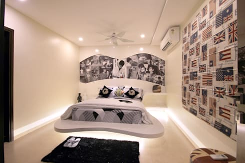 Apartment: modern Bedroom by NA ARCHITECTS