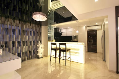 Apartment: modern Dining room by NA ARCHITECTS