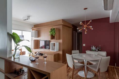 APARTAMENTO MICHIGAN: Salas de estar modernas por Tria Arquitetura
