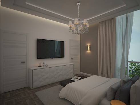 Diseño de Habitación Moderna: Cuartos de estilo moderno por Gabriela Afonso