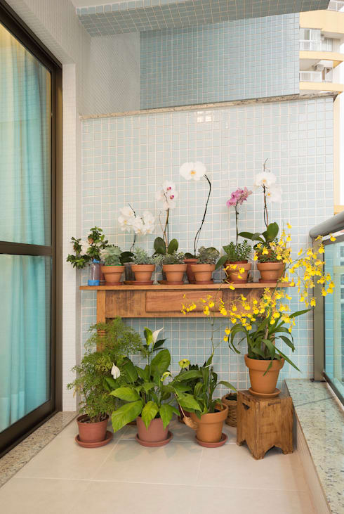 Jardines de estilo rústico por Escritório Ana Meirelles