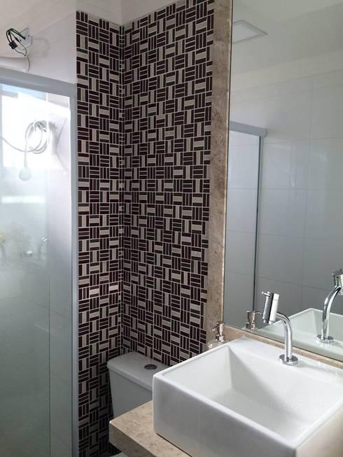 Projeto: Banheiros modernos por Drika Passos Design
