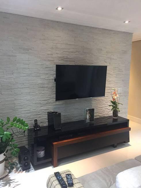 Projeto: Salas de estar modernas por Drika Passos Design