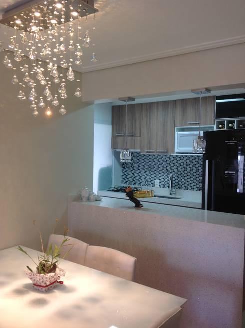 Projeto: Salas de jantar modernas por Drika Passos Design