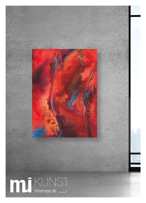 ORIGINAL Abstrakte Kunst / moderne Malerei auf Leinwand \