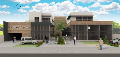 Centro Comercial: Edifícios comerciais  por Estúdio Criativo Arquitetura e Interiores