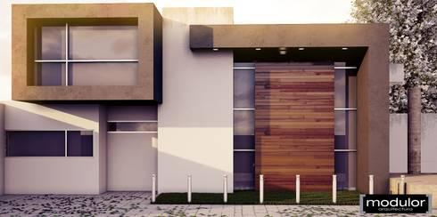 Casa de Campo MM: Casas de estilo moderno por Modulor Arquitectura